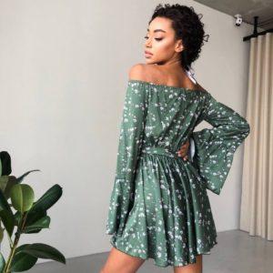 Купить шёлковый комбинезон зелёного цвета из весенней коллекции