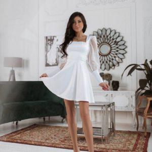 вечернее летнее платье с юбкой из шёлка по скидке от поставщика