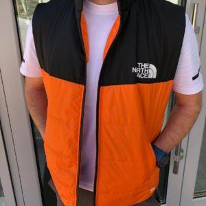 оранжевая мужская синтепоновая жилетка на молнии по лучшей цене в Украине