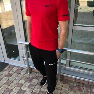 Купить мужской костюм штаны + футболка красного цвета по низкой цене