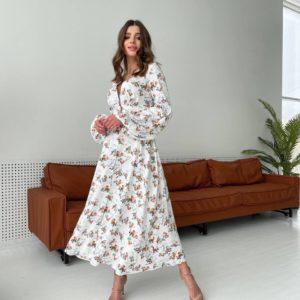 Приобрести летнее платье с цветочным принтом с доставкой