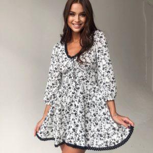 купить прогулочное платье в белом цвете недорого с доставкой по Украине