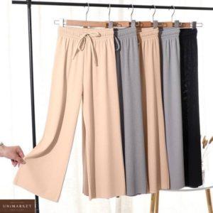 купить качественные штаны клёш серого цвета для девушек в магазине одежды