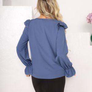 Придбати жіночу блузу для жінок з софта з рюшами (розмір 42-56) по знижці