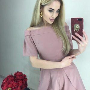Приобрести пудра женский летний комбинезон с открытыми плечами онлайн
