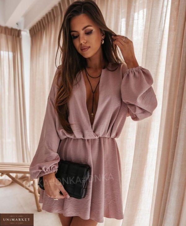 Заказать цвета фрез женское летнее платье из жатки онлайн с длинным рукавом (размер 42-56)