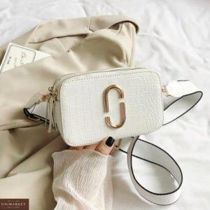 Купить белого цвета базовую женскую мини сумку в стиле Marc Jacobs для женщин