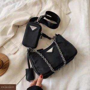 Заказать черного цвета онлайн сумку 2 в 1 дешево : сумка и кошелек для женщин