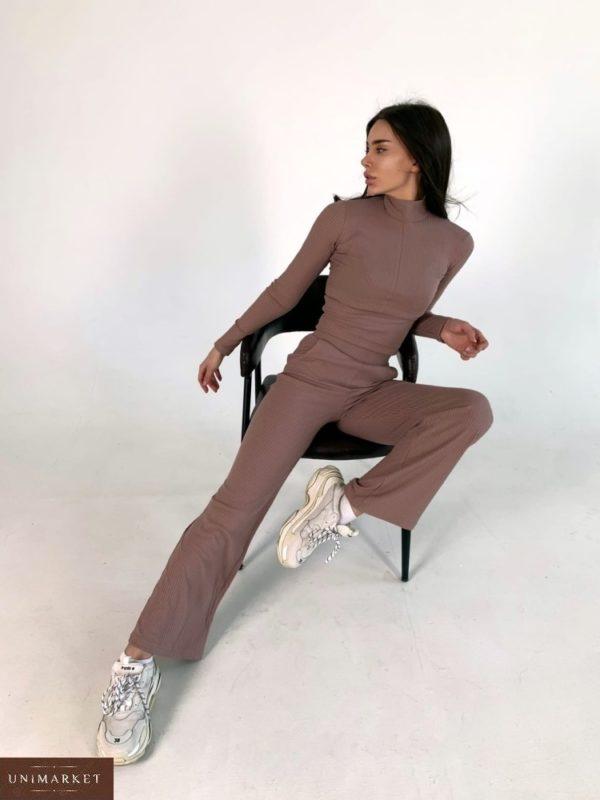 Заказать недорого костюм цвета мокко из трикотажа мустанг для женщин