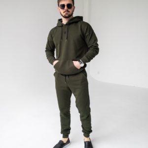 Купить мужской худи цвета хаки по выгодной скидке в магазине одежды Unimarket