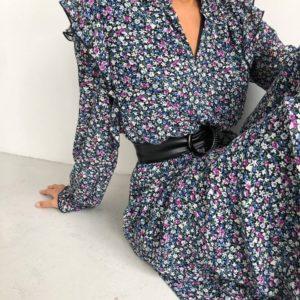 Купить весеннее платье с поясом по доступной цене от магазина unimarket