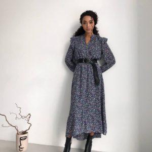 выгодное предложение на новинку весенней коллекции - женское платье с принтом по низкой цене