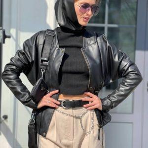 купить женскую косынку на голову из эко кожи недорого