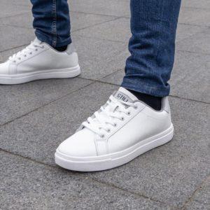 заказать мужские кроссовки белого цвета по выгодной скидке