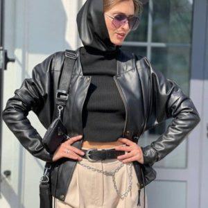 купить женскую куртку из эко кожи на замше недорого