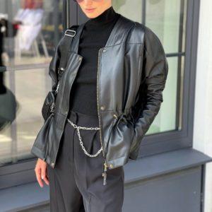 заказать женскую куртку из эко кожи из весенней коллекции магазина Unimarket