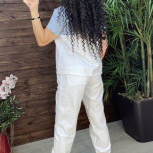 Купить в интернете белый джинсовый костюм со стразами (размер 42-48) для женщин