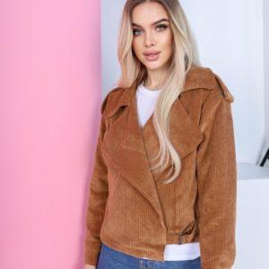 Приобрести женскую весеннюю куртку из вельвета коричневого цвета весеннюю куртку из вельвета дешево