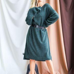 Приобрести цвета бутылка свободное платье миди из ангоры для женщин онлайн
