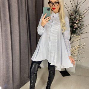 Приобрести недорого белую удлиненную расклешенную рубашку для женщин