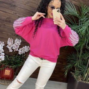 Приобрести онлайн розовый женский свитшот с крыльями