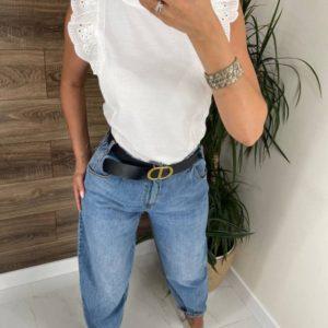 Купить онлайн белую футболку с нежными рукавами для женщин