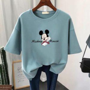 Заказать фисташка женскую футболку Mickey Mouse дешево