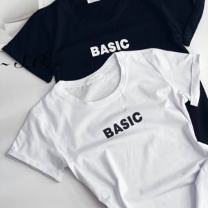Купить онлайн черную, белую футболку Basic для женщин