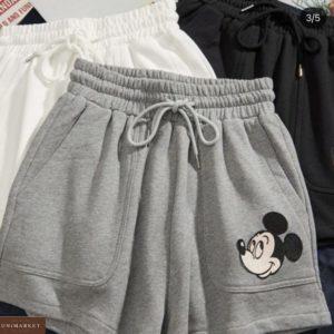 Заказать серые женские шорты с Микки Маусом онлайн