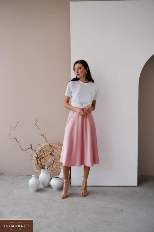 Заказать онлайн пудра юбку из шёлка армани (размер 42-48) для женщин