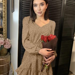 заказать платье коричневого цвета из летней коллекции по скидке в магазине Unimarket