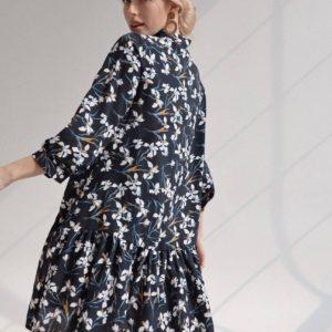 купить шёлковое летнее платье с короткой юбкой в онлайн магазине