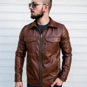 купить мужскую весеннюю куртку из эко кожи по низкой цене