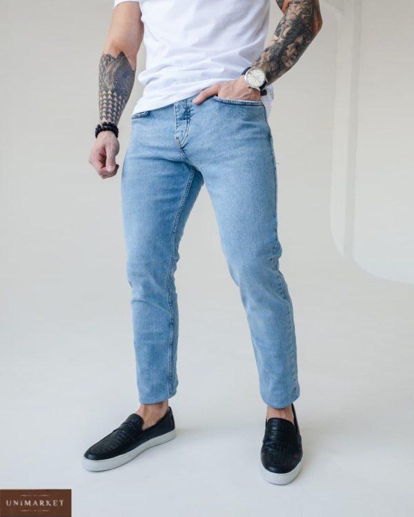 купить мужские однотонные джинсы из хлопка по выгодной цене