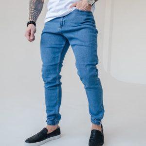 купить мужские джинсы стрейч по низкой цене в синем цвете