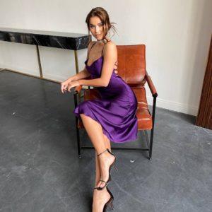 купить женское летнее вечернее платье на бретелях по выгодной цене