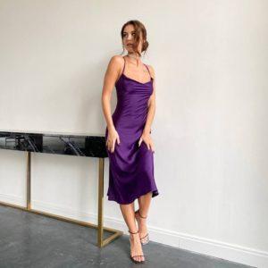 купить вечернее платье на бретелях приталенное по низкой цене