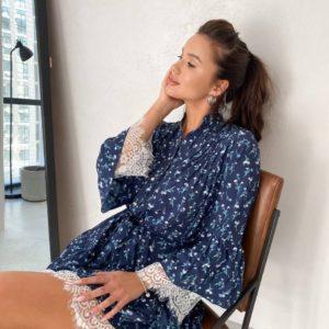 купить летнее платье с рюшами синего цвета по лучшей цене от магазина Unimarket