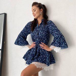 купить прогулочное платье из летней коллекции с кружевом недорого