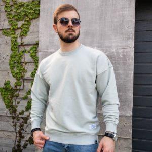 купить мужской свитшот цвета светлой оливы по выгодной скидке от Unimarket