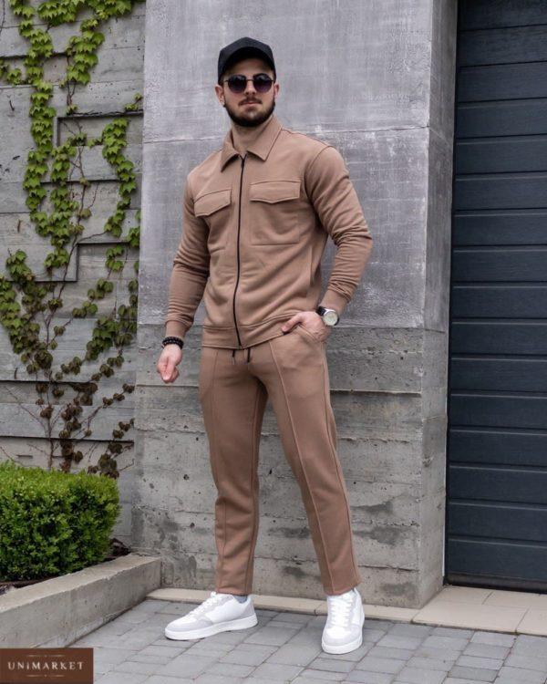 заказать прогулочный костюм мужской светло коричневого цвета с скидкой от Unimarket