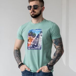 летняя мужская футболка с принтом по выгодной цене в Unimarket