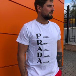 заказать мужскую футболку белого цвета по выгодной цене онлайн