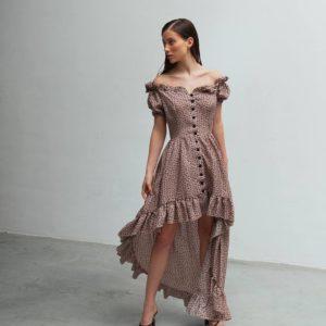 купить платье с открытыми плечами по лучшей скидке на рынке
