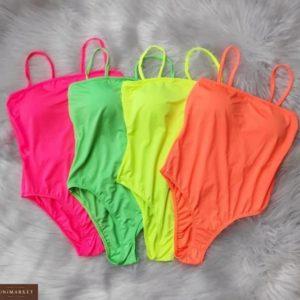 Замовити жіноче неонове боді з віскози дешево оранжевого, жовтого, малинового і зеленого кольору