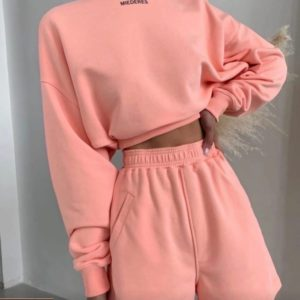 Заказать пудра женский прогулочный костюм с шортами Miederes недорого