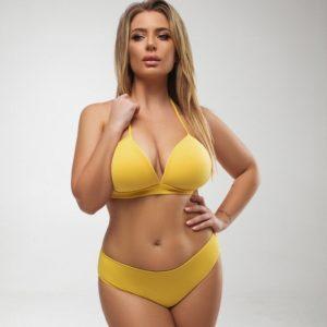 Купить горчица женский раздельный купальник с плотной чашкой (размер 48-58) в интернете