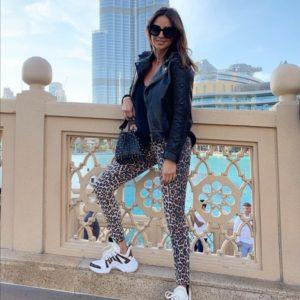 Купить онлайн трикотажные лосины с леопардовым принтом для женщин