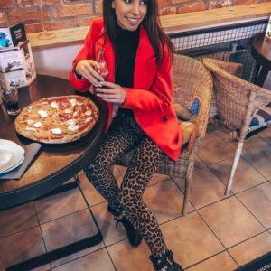 Заказать женские трикотажные лосины с леопардовым принтом в интернете