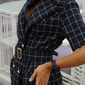 Купить онлайн черное платье-пиджак в клетку (размер 42-48) для женщин